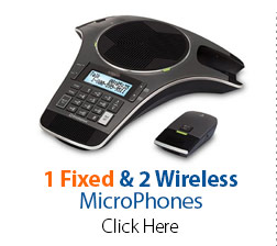 1 Fixed & 2 Wireless MicroPhones