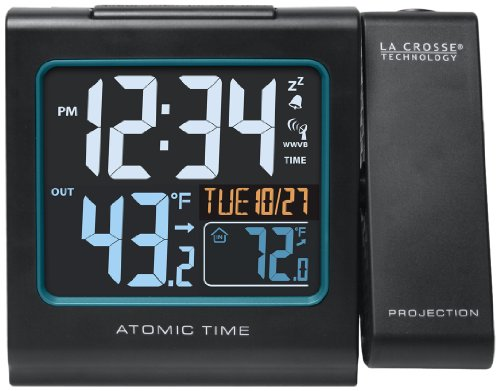 La Crosse Technology La Crosse Technology 616146B La Crosse Technology 616-146 Atomic Color Projection Alarm clock