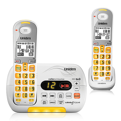 Uniden D3097-2 DECT 6.0 Amplified Cordless Phone w/ 1 Extra Handset