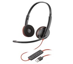corded headsets plantronics blackwire c3220 usb a
