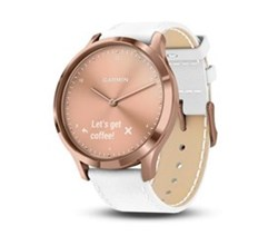 Garmin Health Fitness Tracking garmin vivomove hr premium rose gold white italian leather band one size