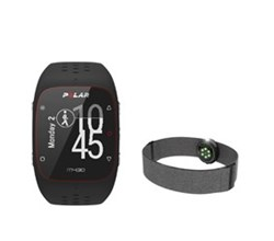 Polar GPS Sports Watches polar m430 black with oh1+ gray