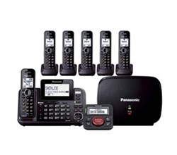 2 line phones panasonic kx tg9542b plus 4 kx tga950b with range extender and call blocker