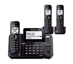 2 line phones Panasonic KX TG9542B 1 KX TGA950B