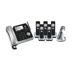Business Phones at&t tl86109 bundle with headset plus 4 tl86009 tl7610