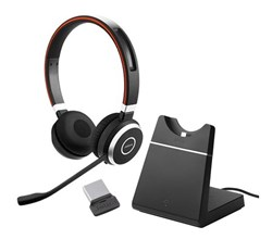 Jabra GN Netcom Evolve Series jabra evolve 65 stereo microsoft optimized with charging stand