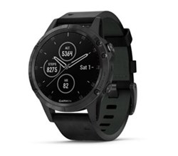 running watches garmin fenix 5 plus sapphire black with leather band
