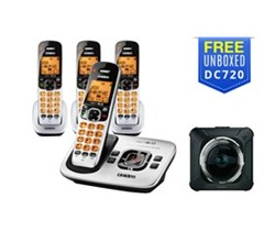 4 Handsets uniden d1780 4 with free dc720 dash camera